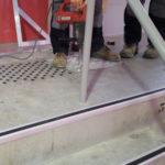 Nez de marche cornière aluminium caoutchouc