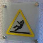 Panneau d'indication de danger en verre synthétique