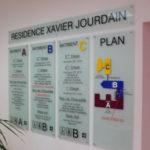 Plan d'orientation intérieur de bâtiment
