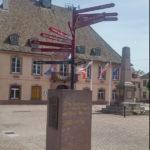 Panneau d'orientation des villes UNESCO