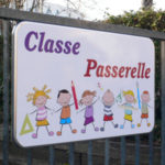 Panneau ludique accès classe passerelle